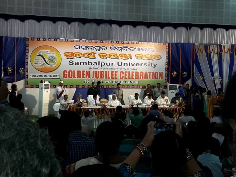 Golden Jubilee Celebration Of Sambalpur University starting on 19th March,2017