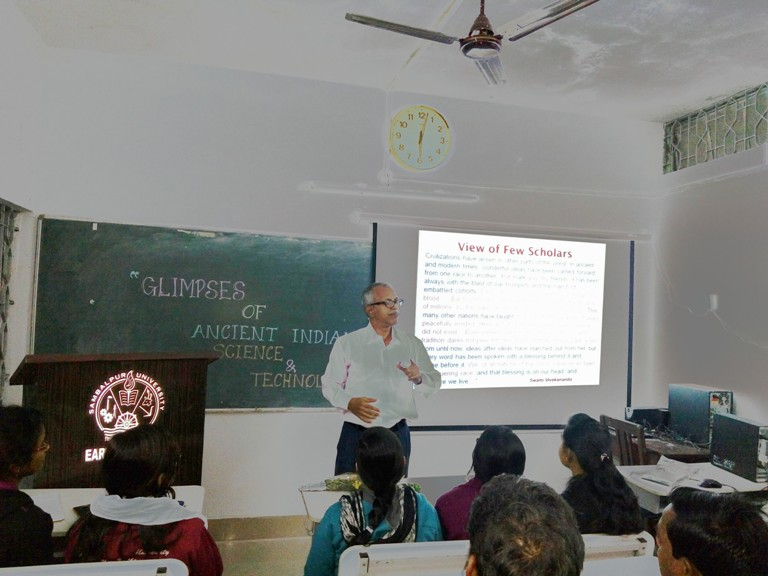Prof. D.P. Mishra, IIT, Kanpur , delivering an extramural lecture