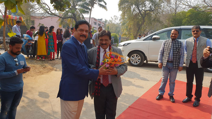 Welcome of Guest Dr. Sampson David, AIU Consultant by our Beloved and Esteemed Vice Chancellor of Sambalpur University Prof. Deepak Kumar Behera