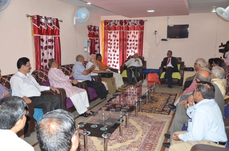 Interaction with Retired Teachers at a Luncheon  Meet