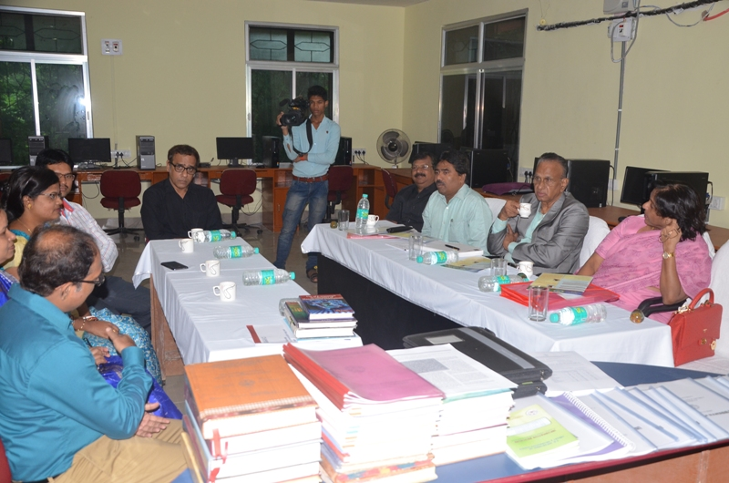 Interaction with faculty at  Library & Information Science Dept