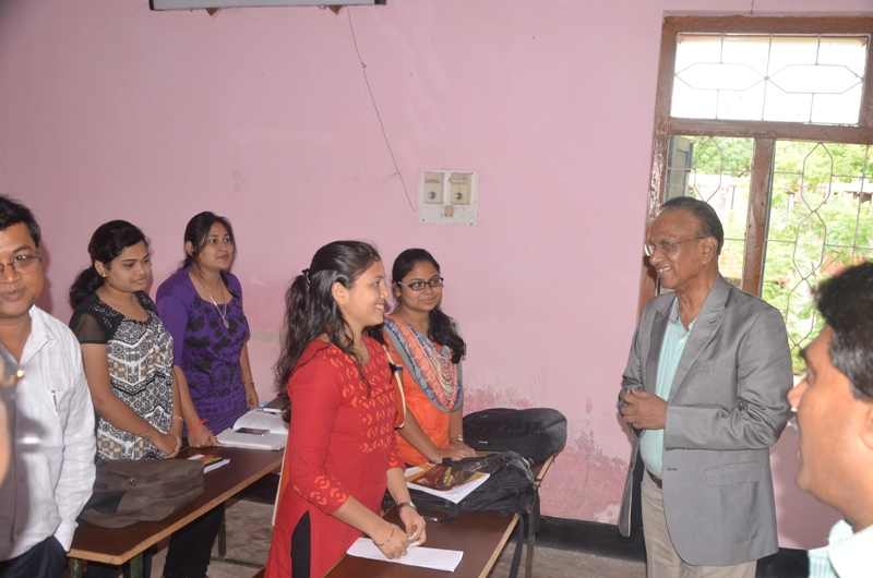 Interaction with the Students of Law Dept
