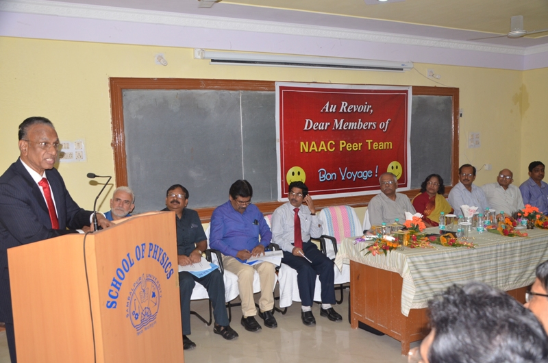 Sharing of Views By Prof. V.S.Prasad,The Chairman of NAAC in Exit Meeting