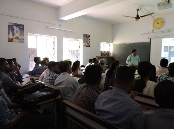 Mr. Priyatham Kumar Bolloju from AMD delivering an extramural lecture